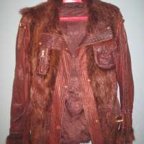 Куртка кожаная женская с меховыми вставками, в Волгограде