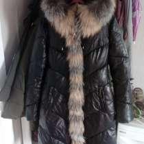 Продам женский зимний кожанный пуховик, в Кемерове
