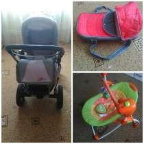 Продам детскую коляску, качелю, переноску для малыша, в Тихорецке