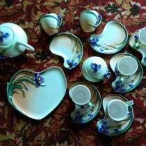 Чайный сервиз Bon Zaniex Ирисы лепной фарфор, в Санкт-Петербурге