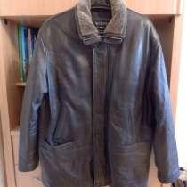 Куртка кожаная мужская демисезонная, новая, в Москве