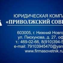 ВЕДЕНИЕ ДЕЛ В СУДАХ, в Нижнем Новгороде