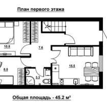 Двухкомнатная в новом сданном доме, в Севастополе