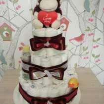 Торт из подгузников на рождение малыша, в Краснодаре