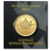Канадский Кленовый Лист 1 грамм, золото, 999.9, в г.Дубай