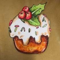 Рисунок «пирожное» в стиле скетч, в Волгограде