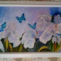 Интерьерная картина Цветы (Волшебный сад) живопись акрил, в Москве