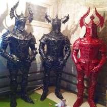 Скульптура рыцаря из металла, в Краснодаре