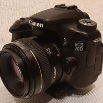 Фотоаппарат Canon EOS 70D+EF50 F1/4, в Краснодаре