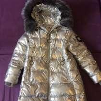 Куртка зимняя kiko фирменная б/у удлиненная, натур мех, в Волгограде