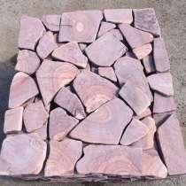 Песчаник галтованый Розовый с разводом камень природный, в Ростове-на-Дону