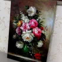 Цветочное вдохновение, 60х90см, Картина маслом, в Москве