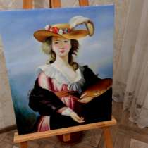 Юная художница, 50х60см, Картина маслом на холсте, в Москве