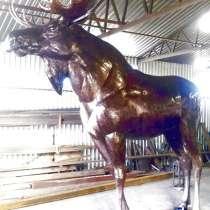 Лось из металла-скульптура, в Краснодаре
