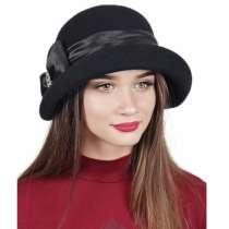 Элегантная черная женская фетровая шляпка, в Москве