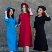 Платье трикотажное модельное, в г.Алматы