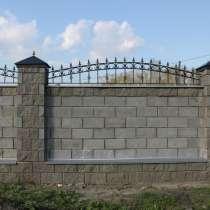 Строительство заборов из блоков, в г.Астана