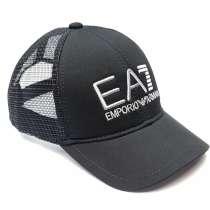 Бейсболка Emporio Armani EA7 (черный) сетка, в Москве