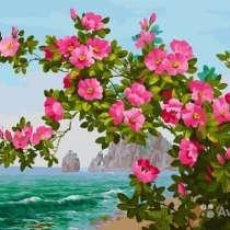 "Картина по номерам ""Цветы у моря"" 40х50, в Омске"