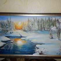 Картина *ЗИМНИЕ КРАСОТЫ* (холст, масло), в Красноярске