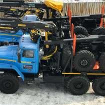 Лесовозы Урал 55571, с манипуляторами и прицепами Завод, в Красноярске