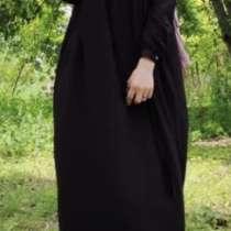 Штапельное платье темно-синий/чёрный, в Баксане