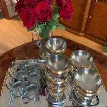 Цептер десертный набор, чайные стаканы, поднос, в Санкт-Петербурге