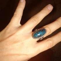 Кольцо с перстнем из хризоколлы, в Севастополе