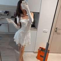 Белое платье на выпускной/ свидание/ день рождение, в Санкт-Петербурге