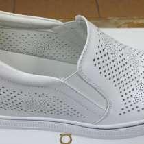 Туфли женские белые размер 40, в Омске
