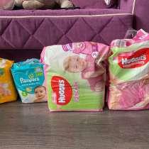 Подгузники 3, 4 и подгузники-трусики для девочки размер 3, в Москве