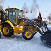 Вывоз снега,услуги современного экскаватора-погрузчика Volvo, в Новосибирске