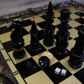 Резные шахматы и нарды из массива Кедра, в Уфе