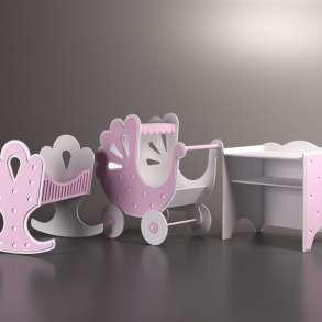 Коляска для куклы,люлька и пеленальный столик. Игровой набор, в Москве