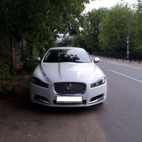 Автомобиль с водителем бизнес класса Ягуар xf, в Москве