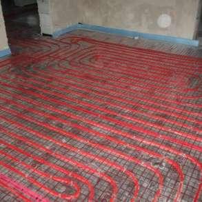 Теплый пол для отопления дома коттеджа, в Обнинске