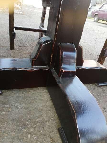 Барный Комплект мебели 5 ед. Массив лиственницы в Краснодаре фото 3