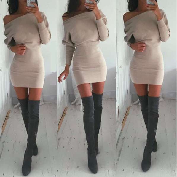 Платье трикотажное, теплое