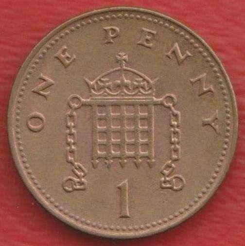 Великобритания Англия 1 пенни 2003 г. Елизавета II
