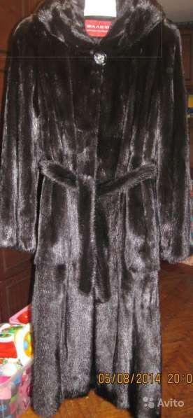 Черная норковая шуба 48 размер