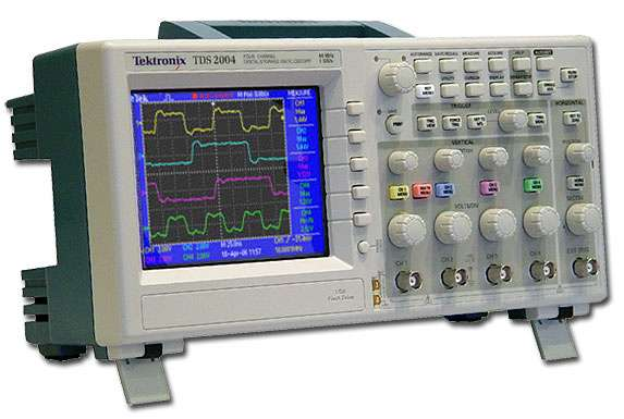 Tektronix TDS2004 цифровой осциллограф 4 канала
