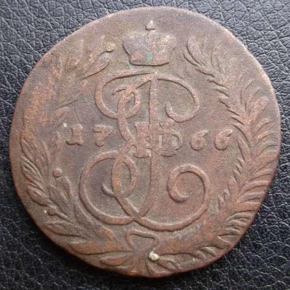 2 коп. 1766г. М. М