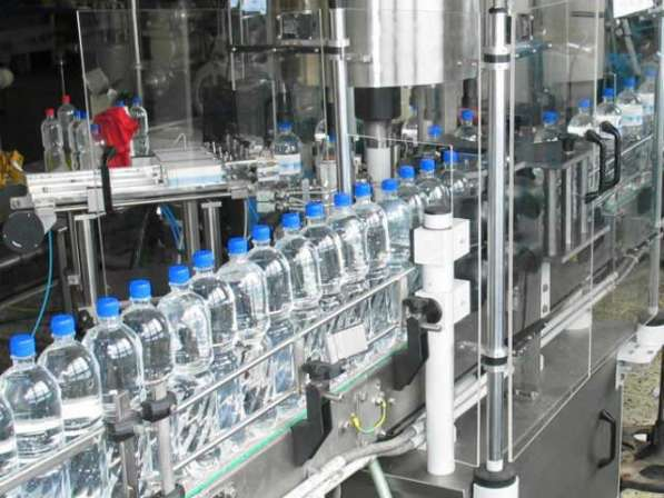 Линия розлива газ. воды и напитков ПЭТ-тару, 600 б/час