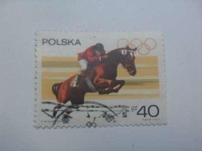 Марка 40gr Польша 1967 год Олимпиада