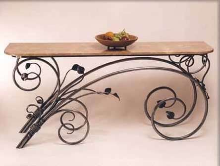 Кованная мебель, предметы интерьера
