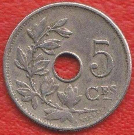 Бельгия 5 сантимов 1910 г