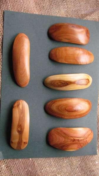 Заколки для волос из текстурной древесины в Москве фото 3
