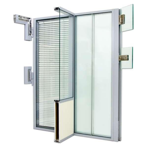 Перегородки и двери из алюминиевого профиля в Казани фото 9