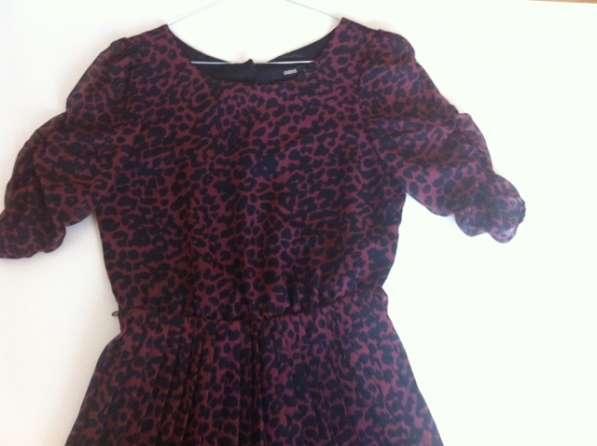 Платье леопардовое шифоновое с плиссировкой, OASIS