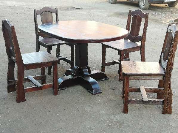 Барный Комплект мебели 5 ед. Массив лиственницы в Краснодаре фото 4